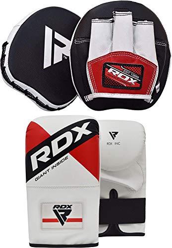 RDX Handpratzen Boxen Pads Boxhandschuhe Boxsack Mitts Kampfsport Boxpratzen Boxpads Schlagpolster Kickboxen Training Schlagkissen (MEHRWEG)