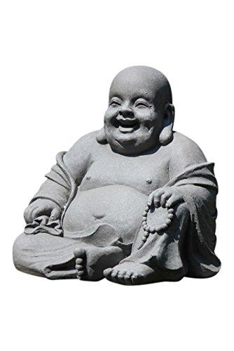 Stone-Lite Drop 838l Buddha Happy bestellen, Verpackung Statue, grau, 46x 42x 42cm
