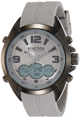 Kenneth Cole Reaction RK50488018 - Reloj de pulsera para hombre, color gris y plateado