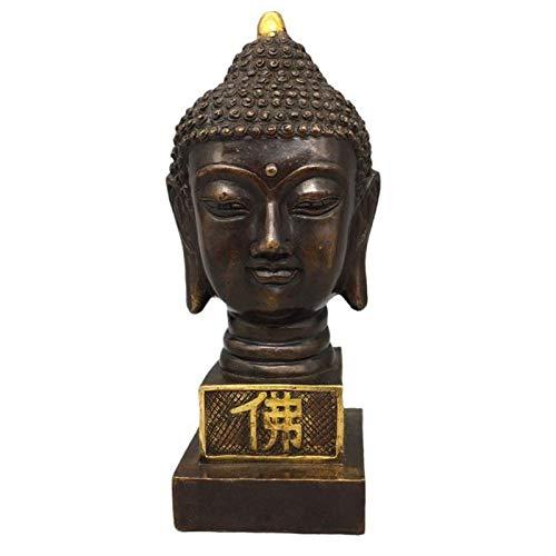 Estatua Impresionante Home Garden Ornament Sculpture Decoración de la escultura Buda Estatuas para la decoración del hogar, Estatua de meditación Zen Pure Cobre Buddha Busto Estatua Estatua Estatuilla