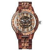 Leyue Reloj de Madera, Reloj mecánico automático Casual Pure Natural Sandalwood Protección de la Salud y el Medio Ambiente, Unisex Mejor Regalo DYF (Color: D) (Color : B)