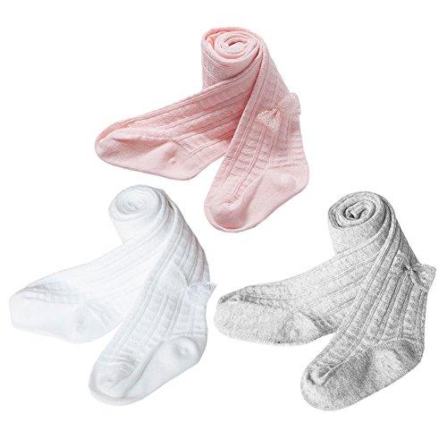 XPX Garment 3 Pares de Algodón Medias para Bebé Niña 0-5 años