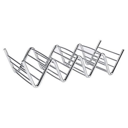 Eten Rack, 4 Grid Wave Vorm RVS Beugel Frame voor Taco Pannenkoek Brood Keuken Tool