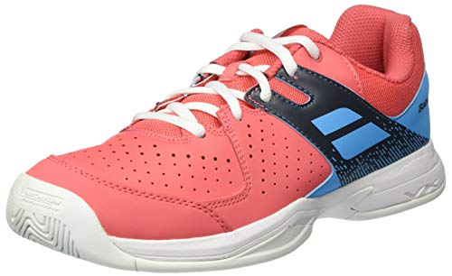 Babolat Pulsion Allcourtschuh Kinder-Orange, Hellblau, Scarpe da Tennis Unisex-Bambini, Pink Sky Blue, 40 EU