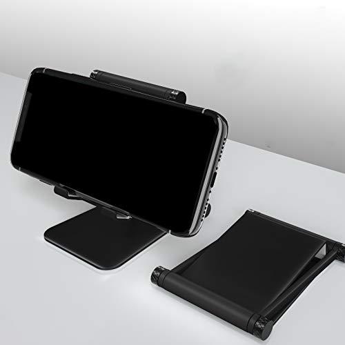 Soporte para teléfono móvil soporte perezoso escritorio aleación de aluminio elevación marco...