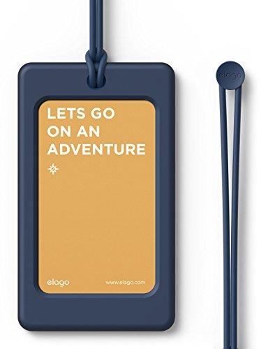 elago LUGGAGE TAG ネームタグ スーツケース 旅行カバン ゴルフバッグ 用 シリコン 製 ラゲージタグ ネームプレート ジーンインディゴ