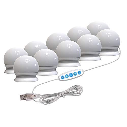 Hieefi Led Rasierspiegel Leuchten Lampen Kit Hollywood Make Up Lichter Mit 10 Glühbirnen Für Makeup Table in Zimmer Dressing