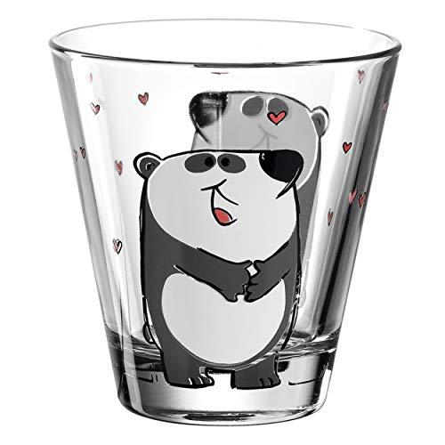 Leonardo Bambini Trink-Glas, Kinder-Becher aus Glas mit Tier-Motiv, spülmaschinengeeignetes Saft-Glas, 1 Stück, 215 ml, 017903