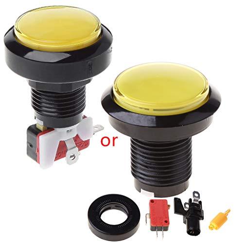 Gjyia New 45mm Push Arcade Button 12V Power LED Encendido Redondo Micro Interruptor Máquina expendedora