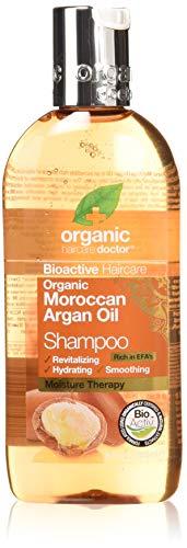 Dr.Organic Bioactive Haircare - Aceite de Argán Orgánico, Champú, 265 ml
