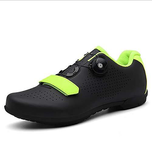 BHC Zapatillas De Ciclismo con Suela De Caucho Y Triple Tira De Velcro Unisex Adulto