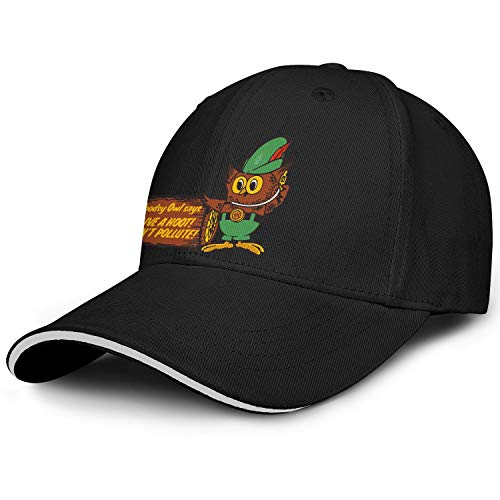 LQIAO Woodsy Owl Trucker Cap Cotton Cowboy Hat Unisex