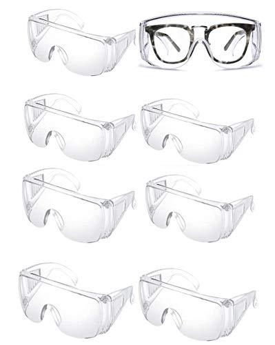 8個入 ゴーグル 保護メガネ 透明 耐衝撃性 曇り止め 保護用アイゴーグル 防塵ゴーグル