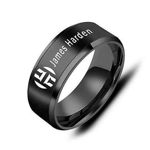 GEHIYPA Houston Basketball-Ring, Edelstahl, für Herren, Sport, einzigartiges Design, Bequeme Passform, Härter, 8
