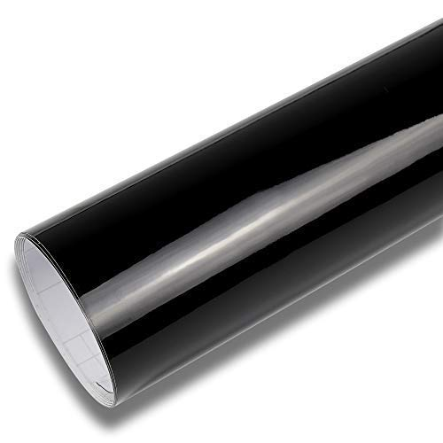 Rapid Teck® 13,14€/m² Glanz Schwarz Folie Serie 560z hochglänzend Schwarz Autofolie selbstklebend Luftkanal