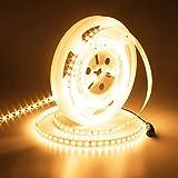 JOYLIT 24V Ruban à LED Blanc Chaud 3000K, UL CE Listed 5M Flexible 90W Super Luminosité 5500LM, IP20 Non Étanche 600 LEDs 2835...