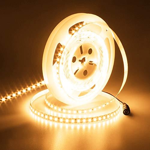 JOYLIT 24V Striscia LED Bianco caldo 3000K, 5M UL CE Elencato Super Luminosità 6000LM Flessibile 90W CRI 90+ Alta Densità 600LEDs SMD2835 IP33 Non impermeabile Luce Nastro Luminoso