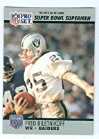 Fred Biletnikoff football card (Oakland Raiders) 1990 Pro Set #45 Super Bowl Supermen