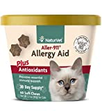 NaturVet – Aller-911 Allergy Aid Plus Antioxidants for Cats – 60 Soft Chews – Supports Immune System, Skin Moisture & Respiratory Health – Contains Omegas, DHA & EPA – 30 Day Supply