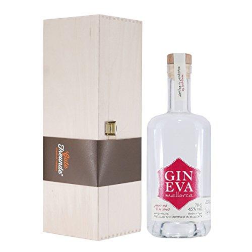 Gin Eva - Mallorca Dry Gin mit Geschenk-Holzkiste