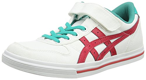 ASICS Aaron Ps Zapatillas Bajas, Niños, Blanco (White/Classic Red 0123), 27 EU