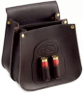 Galco Field Grade Shell Leather Pouch (50-Count), Dark Havana Brown