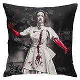 Alice_Madness_Returns - Funda de cojín decorativa para sofá,...