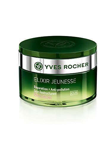 Yves Rocher ELIXIR JEUNESSE Restrukturierende Pflege Tag – trockene Haut, Tagescreme Detox &...