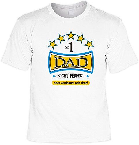 witziges Sprüche T-Shirt Nr. 1 DAD Fb Weiss