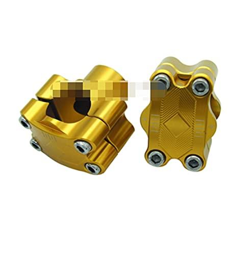 ZIHAN Feil Store Aleación CNC 7/8'a 11/8' 28 mm Barra de Grasa Handlebar Abrazaderas de sujeción Taper Manillar ATV Motorcycle Dirt Bike (Color : Gold)