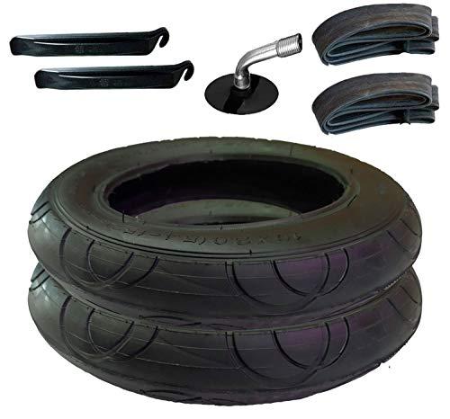 2X Reifen+Schlauch mit Winkelventil 10 x 2 Plus Montagehebel