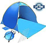 OutdoorsmanLab Automatic Pop Up Beach Tent, Lightweight For Family with UV 50+ Protection, Easy Carrying Bag,...
