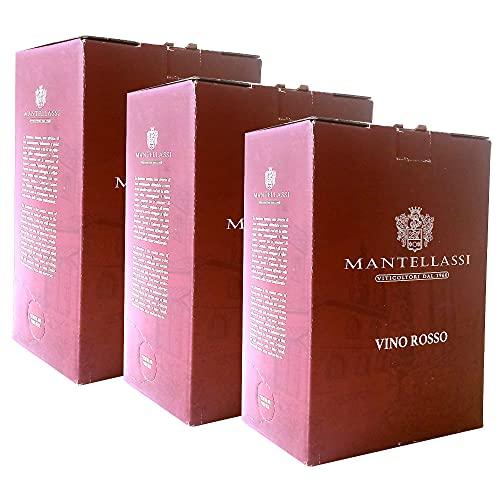 Bag In Box Vino Tinto Italiano Fattoria Mantellassi (3 Bag in the box 5 litros)