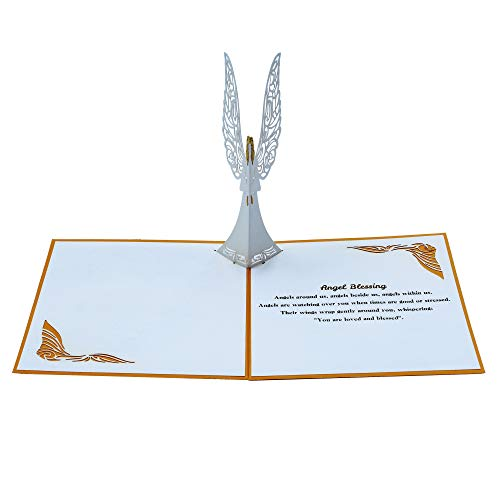 Dekali Designs Guardian Angel Pop up Card | 3D Angel Card for Christmas, Easter, Get Well Soon Card, Funeral, Bereavement, Memorial, Get Well Soon Card | Comes With Angel Blessing Inspirational Quote Photo #3