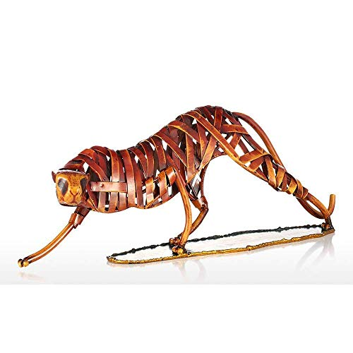 FACAZ Estatuas de Animales de Metal, esculturas de Leopardo, artesanías de decoración de Metal para el hogar, decoración Creativa del hogar para la decoración del hogar
