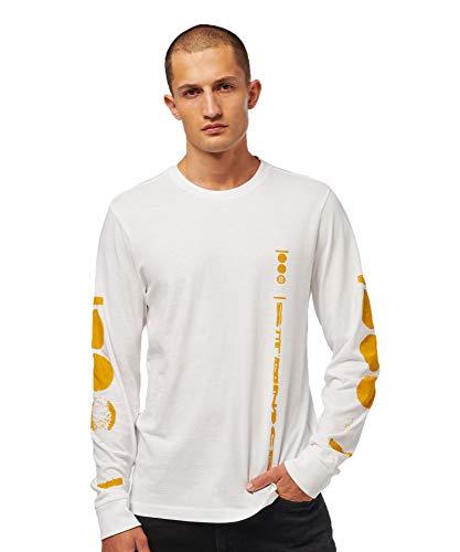 Stance MT00418DPH Men's Phase Long Sleeve Shirt, White - X-Large
