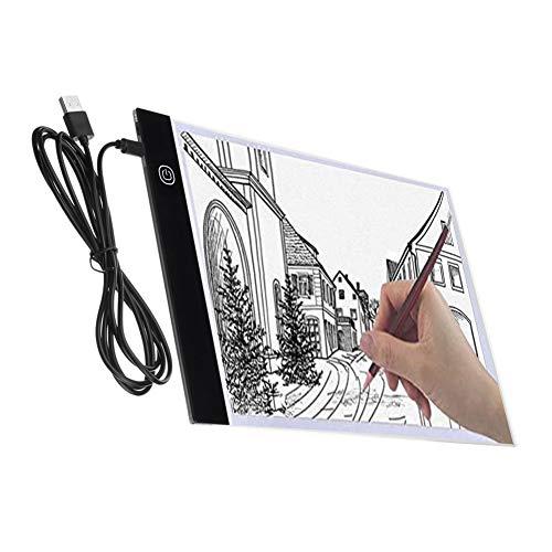 Majome Tablette Lumineuse Dessin, A4 Super Mince USB LED Art Plaque de luminosité Dessin Copie Pad Dessin Table (3 Niveaux de luminosité)
