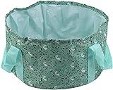 DAGUAI Cubo plegable Portátil Cuenca plegable Viaje Camping Lavabo Bucket Pesca Plegable Fregadero Fregadero Cesta de lavado Spa Pie de baño Cubo portátil (Color : Green)