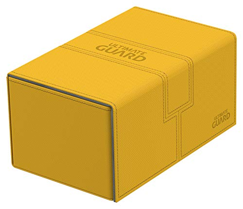 Ultimate Guard ugd010652Twin Flip 'n 'Tray Deck Case 160+ tamaño estándar Xenoskin ámbar