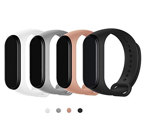 Maspen Compatible con Xiaomi Mi Band 4 Cinturini Xiaomi Mi Band 3 Cinturini Braccialetto di Ricambio Polso Cinturino di Ricambio per Smartwatch Xiaomi Mi Band 4 Mi Band 3 Cinturino Sport