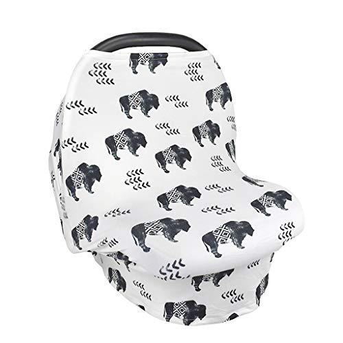 Javntouy Funda para asiento de coche para bebés de enfermería cubierta para carrito de compras de silla alta cubierta para cochecito de bebé, cubierta para portabebés