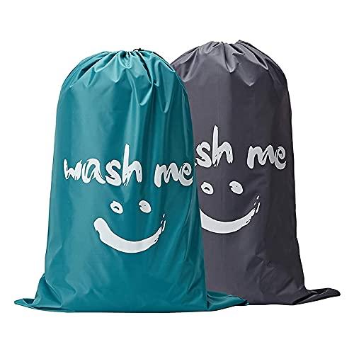 CKMSYUDG 2 sacchetti per bucato Wash Me resistenti agli strappi e sporchi, lavabile in lavatrice, resistente fodera per cesto portabiancheria