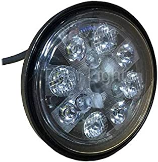 Tractor LED Light - 24W Sealed Round (Fits Allis Chalmers Tractor 160, 175 +   John Deere Tractor 2010, 4050, 4055, 4240, 4250, 4320, 4430, 4450, 4640, 4650, 4755, 4760, 4840, 4850, 4955, 4960 & More)