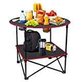 Portable Camping Table Folding Picnic Tables 4 Foot Folding Table Waterproof...