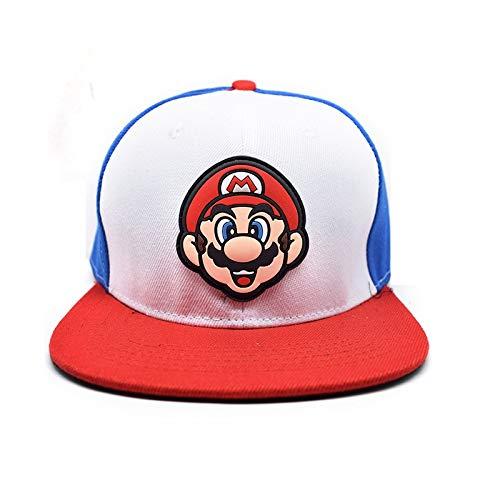 YUNMEI Sombrero Super maría Super Mario Bros Cosplay Juego Hip Hop Sombrero...