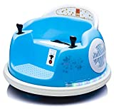 u URideon Ride On Bumper car for Kids, 6V Electric Vehicle Ride on Toys with Remote Control, Music,Colorful Flashing Lights,Battery Powered (Blue)