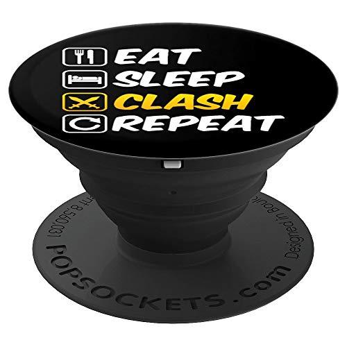 Eat Sleep Clash Repeat Mobile Gaming - PopSockets Ausziehbarer Sockel und Griff für Smartphones und Tablets