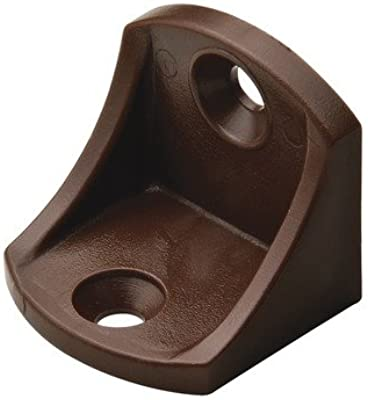 plastic brown 24mm x 24mm x 17mm Brace 12 Corner Bracket