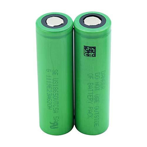 EXCROLY Batería De Iones De Litio De 3.6v 18650vtc5a 2600mah, Reemplazo Protegido para El Mini Banco del Poder De La Fan 2pieces