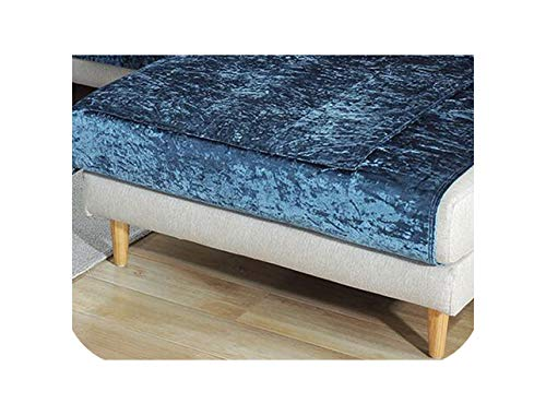 Green Plaid Funda de sofá de Felpa Cojín de Toalla de sofá Gris Beige Funda de sofá de Tela de Felpa Corta para sofá de Diferentes Formas Conjunto G 70x240cm 1 Pieza